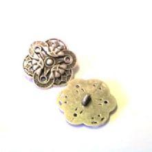 Art Nouveau Motif Metal Button